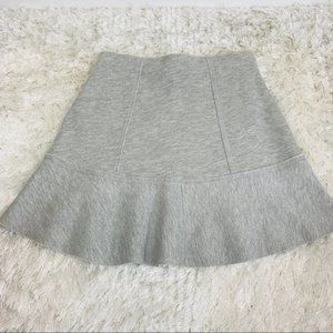 H&M Grey Stretch Skirt Flounce Ruffle Small